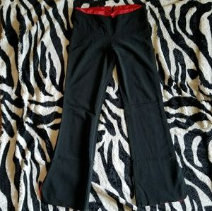 Pants - Black Dress Pants with Red Details